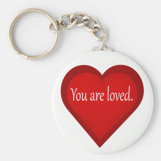 Jesus Loves You Heart Affirmative Keychain