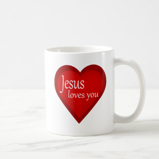 Jesus Loves You Heart Affirmative Mug