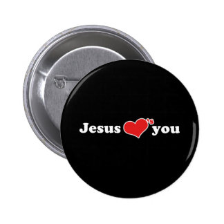 Jesus Loves You Heart Pins