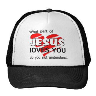 jesus loves you items mesh hat