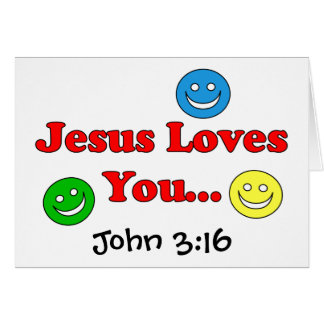 Jesus Loves You - John 3:16 Card