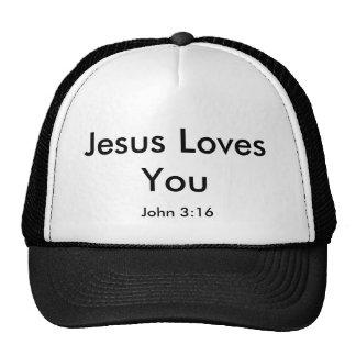 Jesus Loves You, John 3:16 Mesh Hats