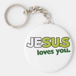 Jesus Loves you Key Ring