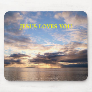 JESUS LOVES YOU MOUSE PAD