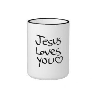 Jesus Loves You Ringer Mug