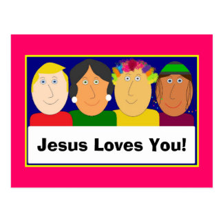 Jesus Loves You! Post Card