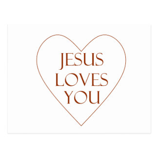 Jesus Loves You Postcard