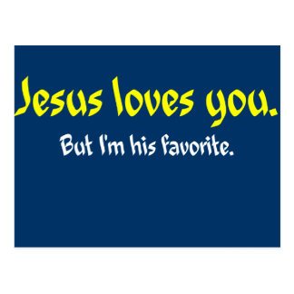 Jesus Loves You Postcard