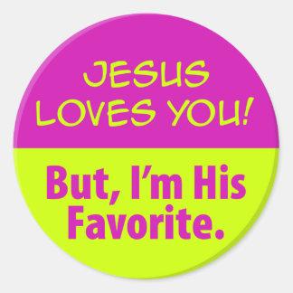 Jesus Loves You! Round Sticker
