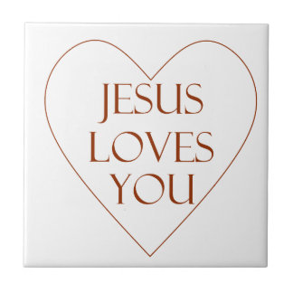 Jesus Loves You Small Square Tile