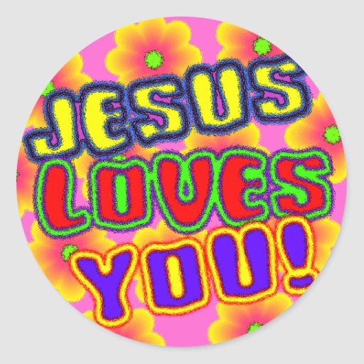 Jesus Loves You! Sticker
