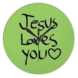Jesus Loves You Wallclock