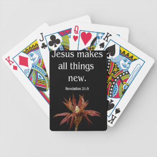 Jesus makes all things new bicycle playing cards