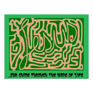 Jesus maze posters