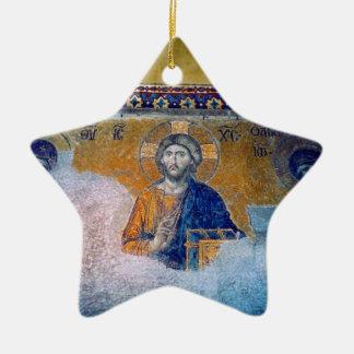 jesus mural star ceramic ornament