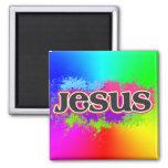 Jesus Neon Static (rainbow)