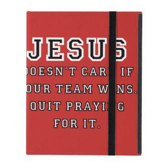 Jesus: Not a Sports Fan - Black/White iPad Covers