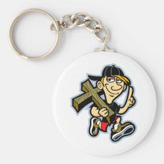Jesus Number one Basic Round Button Key Ring