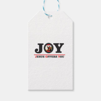 Jesus offers you joy label