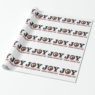 Jesus offers you joy label wrapping paper