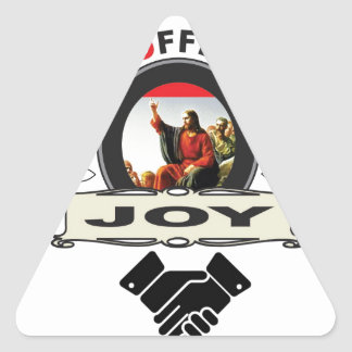 Jesus offers you joy logo triangle sticker