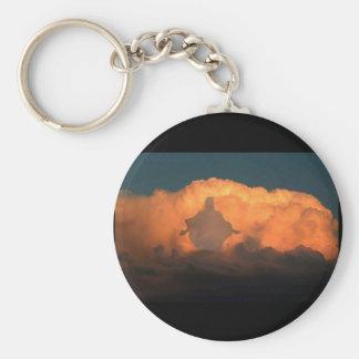 Jesus On Clouds Key Chain
