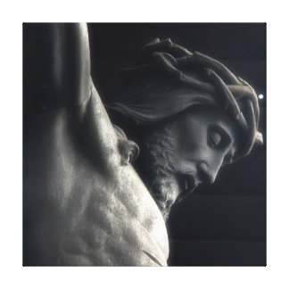 Jesus on Cross Wrapped Canvas Stretched Canvas Print