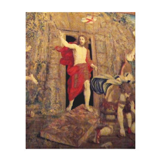 Jesus on Resurrection Tapestry in the Vatican Canvas Print
