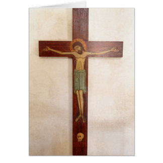 Jesus On The Cross Art Card