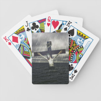 Jesus on the Cross at the Sea Poker Deck