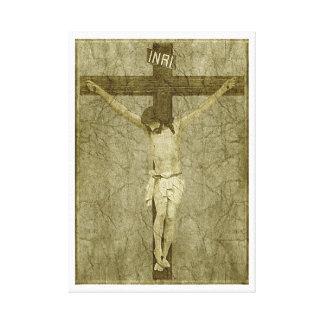 Jesus on the Cross Canvas Prints