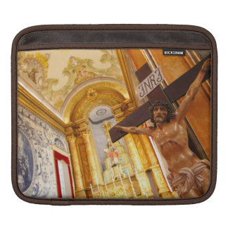 Jesus on the cross iPad sleeve