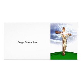 Jesus on the Cross Photocard Photo Card Template