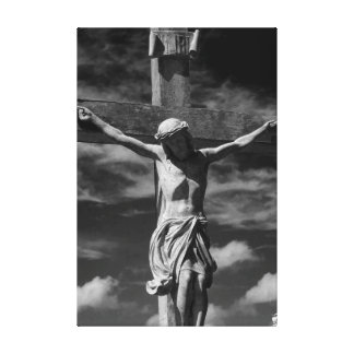 Jesus on the Cross Stretched Canvas Prints