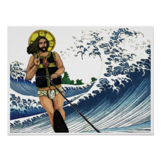 Jesus on the Water (sports) Poster