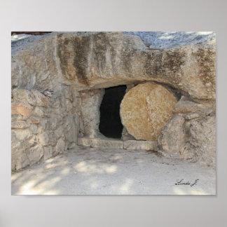 Jesus Open Tomb Israel Canvas Print