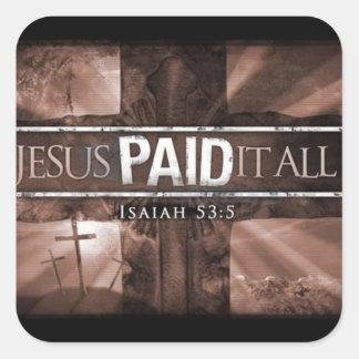 Jesus Paid It All Sticker