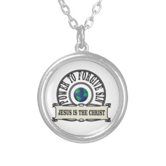 Jesus power forgive sin in world silver plated necklace