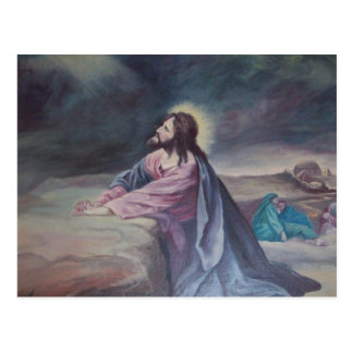Jesus Praying at Gethsemane Postcard