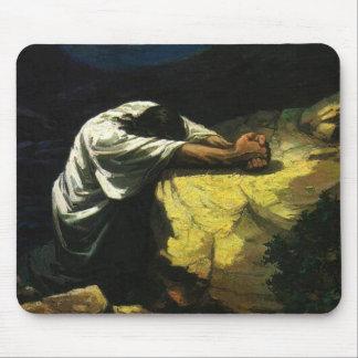 Jesus Praying Mouse Pad