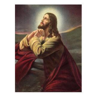 Jesus Praying Postcard