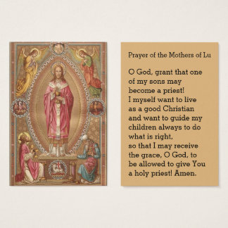 Jesus Priest Host Angels Prayer Business Card