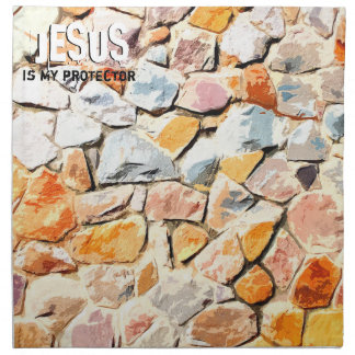 JESUS protects me Napkin