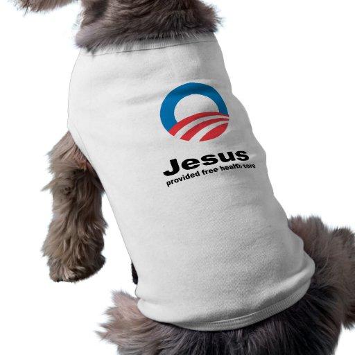 Jesus provided free healthcare pet shirt