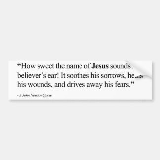 Jesus Quote Bumper Sticker - Believer s Faith
