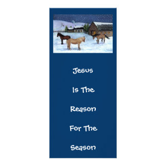 JESUS REASON FOR SEASON: HORSES: ART PERSONALISED RACK CARD