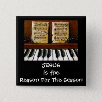 JESUS REASON FOR SEASON: PIANO: ART 15 CM SQUARE BADGE