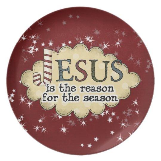 Jesus Reason Season Christmas Plate