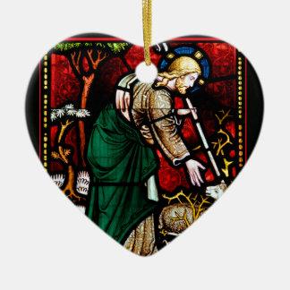 Jesus Rescues a Lamb of God Ornaments