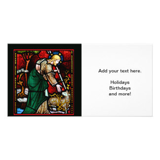Jesus Rescues a Lamb of God Photo Cards